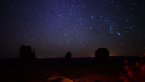 Monument Valley Milkyway 05 Time Lapse Dolly L and Up Footage