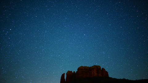 Sedona Milky Way 01 Cathedral Rock Time Lapse Stars Footage