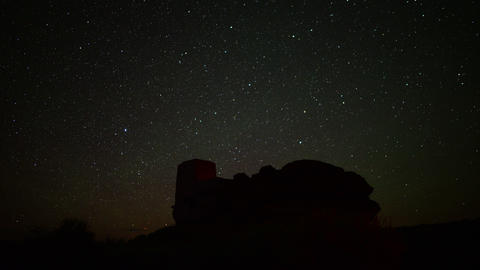 Wupatki Milky Way 09 Dolly and Pan Time Lapse Stars and Indian Ruins Footage