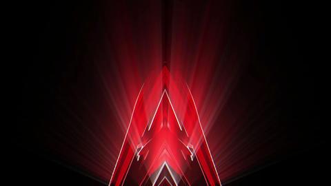 The Rising Shining Crystal Cosmic Red Flower VJ Loop Footage