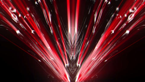 Red Energy Sparkling Shiny Cosmic Rays VJ Loop Live Action