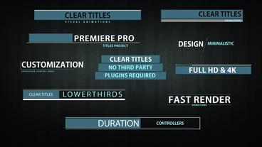 Clear titles モーショングラフィックステンプレート