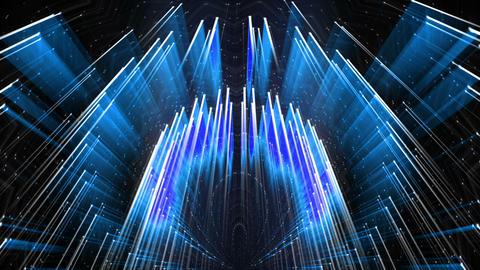 Blue Shining Silver Needle Cosmic Rain VJ Loop Live Action