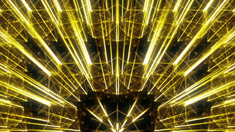 Motion Golden Wall With Shining Gold Sparkling Rays VJ Loop Live Action