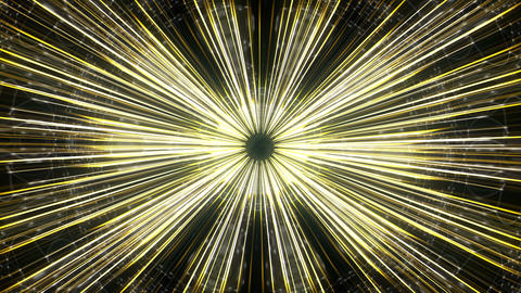 Shining Ancient Sun With Golden Sparkling Rays VJ Loop Footage