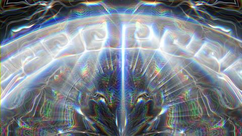 Ancient Symbols Silver Shining Sun VJ Loop Footage