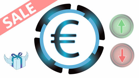 Currency sale on white Animation