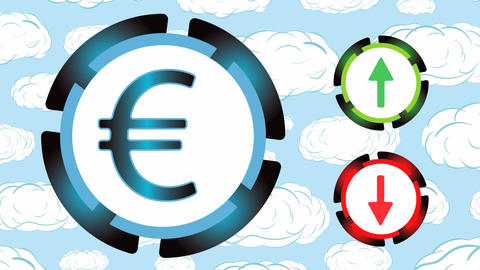 Exchange rate on clouds Animation