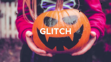 Halloween Glitch Intro Premiere Proテンプレート