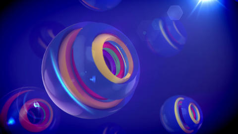 Spinning Spheres from Nested Objects Animation