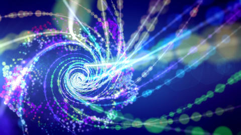 Spirals forming time portal in cosmos Animation