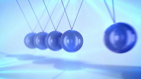 Diagonal steel beads pendulum at work Animation