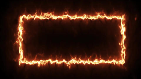 Video footage animated fire frame 9 Animation