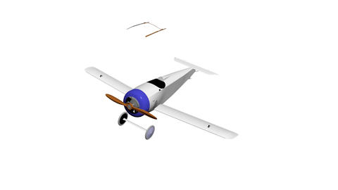 Aircraft glider plane airplane Animation