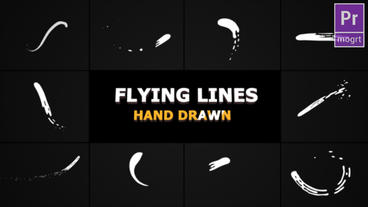 Hand Drawn Flying Lines Motion Graphics Template