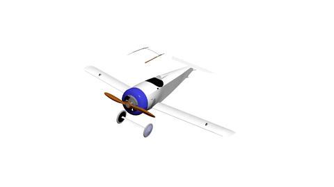 Aircraft glider plane airplane 02 Animación