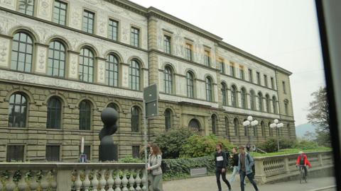 Building Of Zurich Pedagogical University Footage
