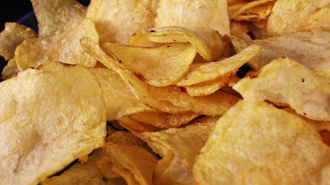 Potato chips crisps snack side dish or appetizer Footage