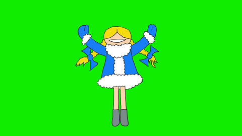 Girl in Fur Coat Animation
