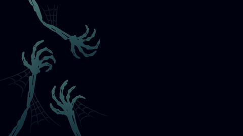 Halloween background template, skeleton monster hand concept design illustration Animation