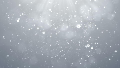 White Christmas Snowflakes Falling Background, Christmas Background Looped Animation