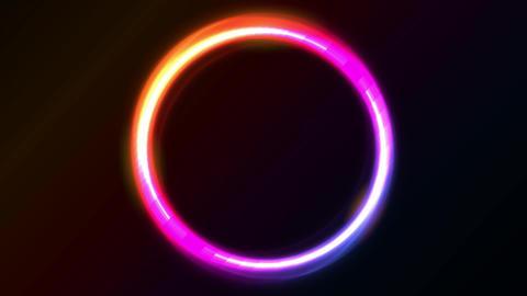 Abstract Shiny Light Circles Animation 애니메이션