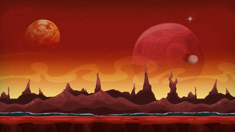 Seamless Animation Of Fantasy Alien Background Videos animados