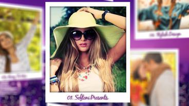 Polaroid Photo Slideshow 애프터 이펙트 템플릿