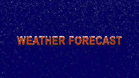 New Year text common expression WEATHER FORECAST. Snow falls. Christmas mood, Animation
