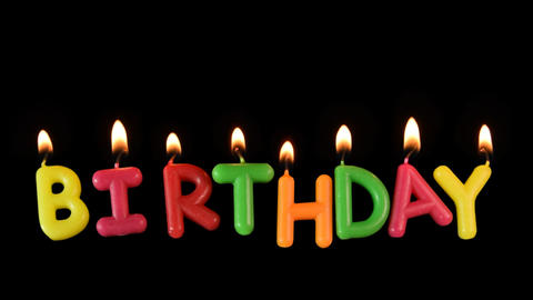 BIRTHDAY letters burning ALPHA PNG GIF