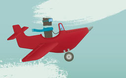 Piloting a plane フォト