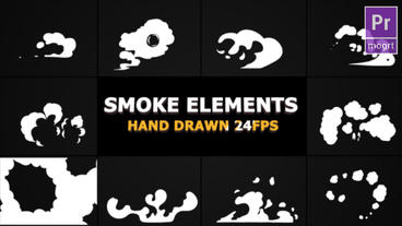 Hand Drawn Smoke Elements Motion Graphics Template