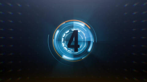 Digital Countdown Logo 2 After Effects Template