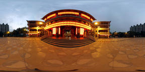 Taoist Temple Exterior Evening - 360 VR フォト