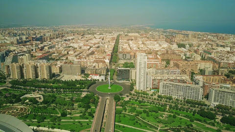 Aerial view of Valencia city coastal area, Spain Footage