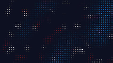 Flashing abstract red, blue and white dots ビデオ