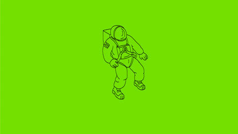 Astronaut Floating in Space Drawing 2D Animation Animation