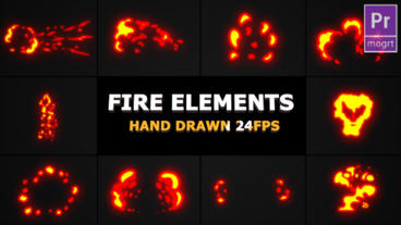Fire Elements Motion Graphics Template