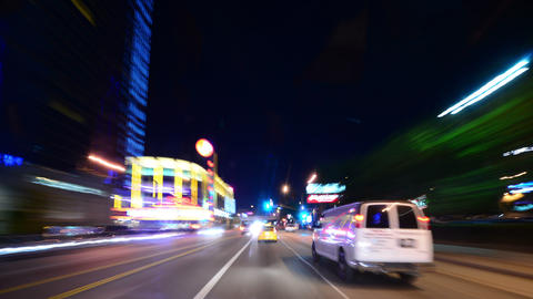 Driving Hyperlapse 32 POV Los Angeles Night Cityscape 2014 Footage