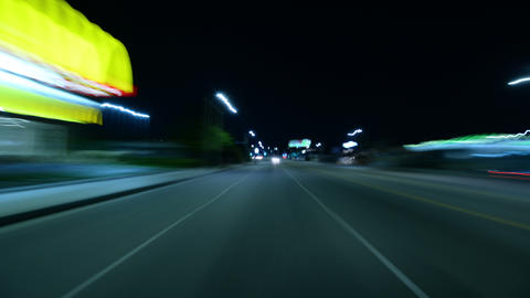Driving Hyperlapse Back 07 Los Angeles Cityscape Footage