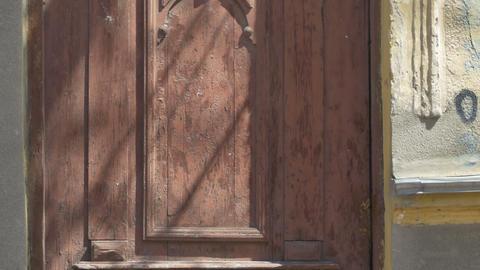 Grunge Door of Abandoned House Footage
