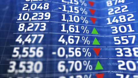 Stock exchange market business concept Animation