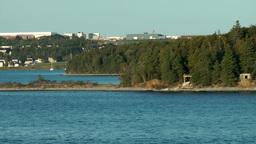 Halifax Nova Scotia New Scotland Canada 008 drive past McNab Island Footage