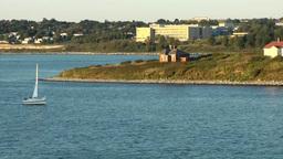 Halifax Nova Scotia New Scotland Canada 014 leaving McNabs island Footage