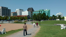 Halifax Nova Scotia New Scotland Canada 023 Seaport Walking Path stock footage