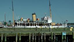Halifax Nova Scotia New Scotland Canada 033 Seaport, Museum Ship Css Acadia stock footage