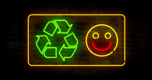 Smile for recycling CG動画素材