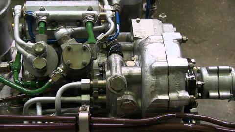 Modern powerful truck engine GIF