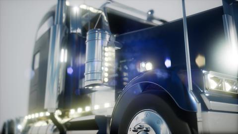bright american lorry track in studio Archivo