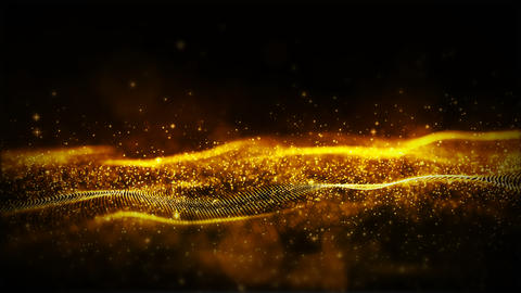 Particles wave abstract background 0088 Animation